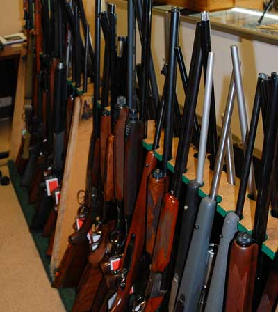 Used gun and firearm collection
